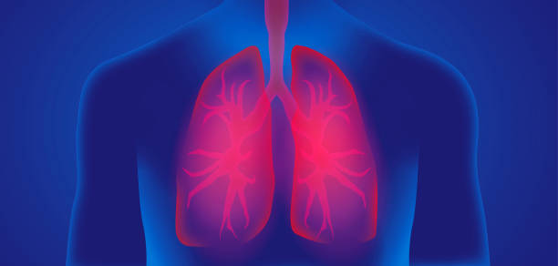 humane lung flu virus illustration graphic background lung flu virus graphic background title design virus attack respiratory disease stock pictures, royalty-free photos & images