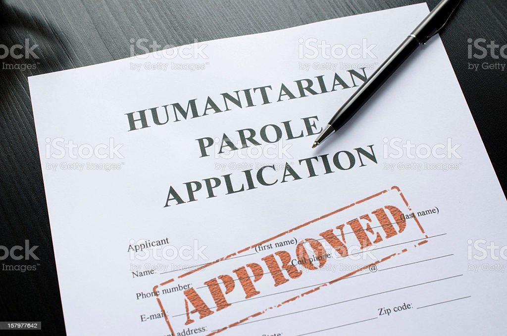 humanitarian parole application - approved royalty-free stock photo