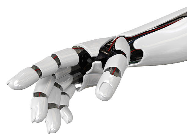 Humanoid robot hand stock photo
