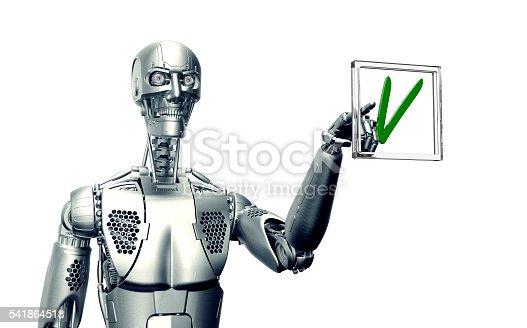 istock humanoid robot isolated on white 541864518