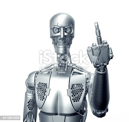 istock humanoid robot isolated on white 541864556