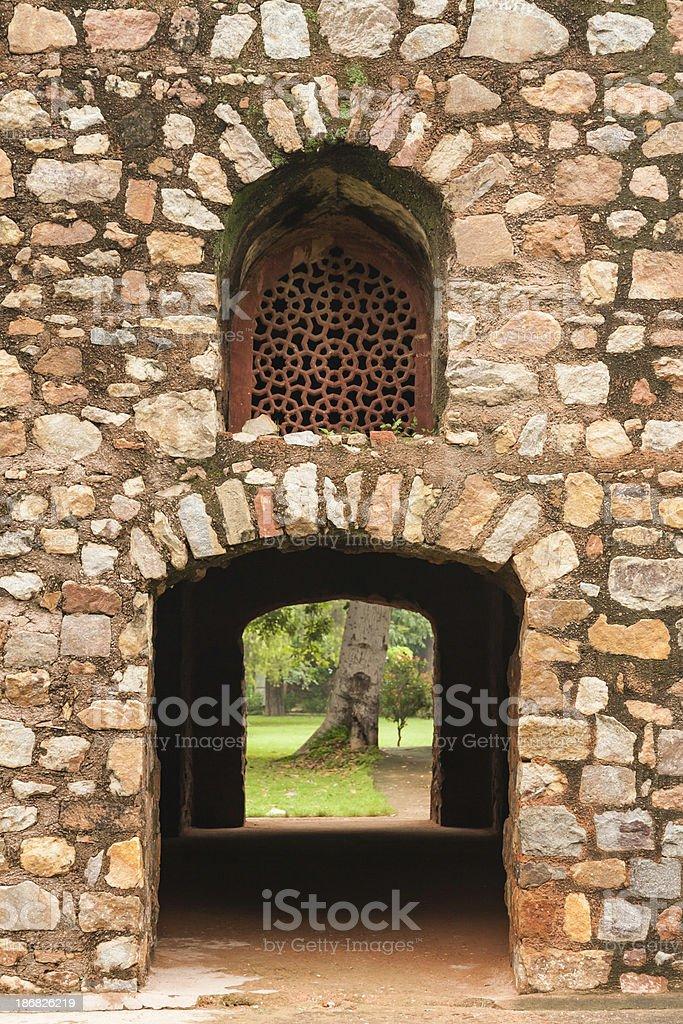 Humayun Ruins stock photo