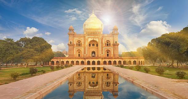 Cтоковое фото Гробница Хумаюна Нью-Дели, Индия.
