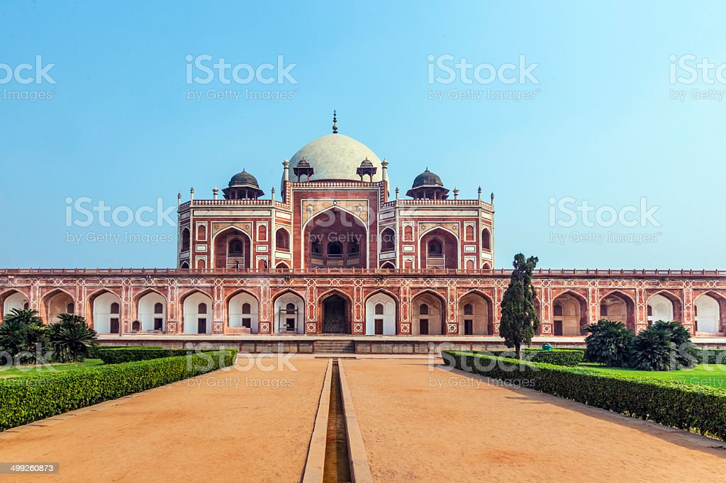 Humayun's Tomb in Delhi stock photo
