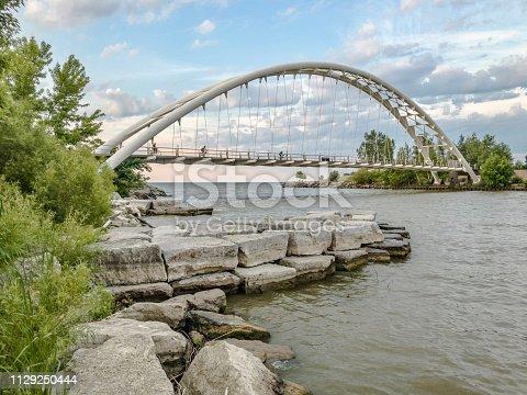 Humber Bay Arch Bridge in Toronto