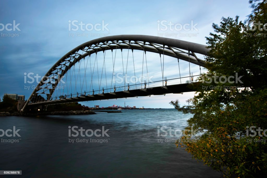 Humber Bay Arch Bridge stock photo