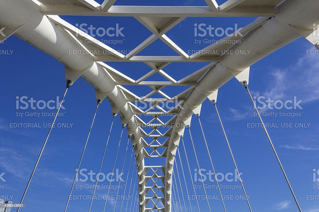 Humber Bridge arch closeup stock photo