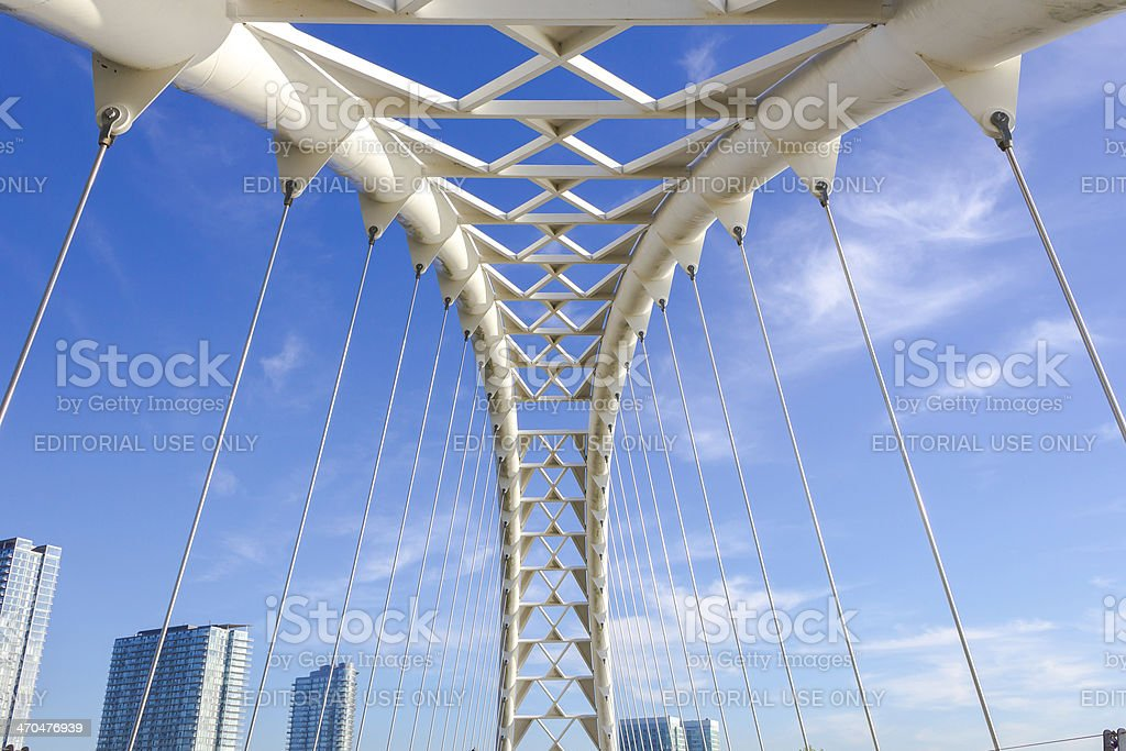Humber Bridge Arch stock photo