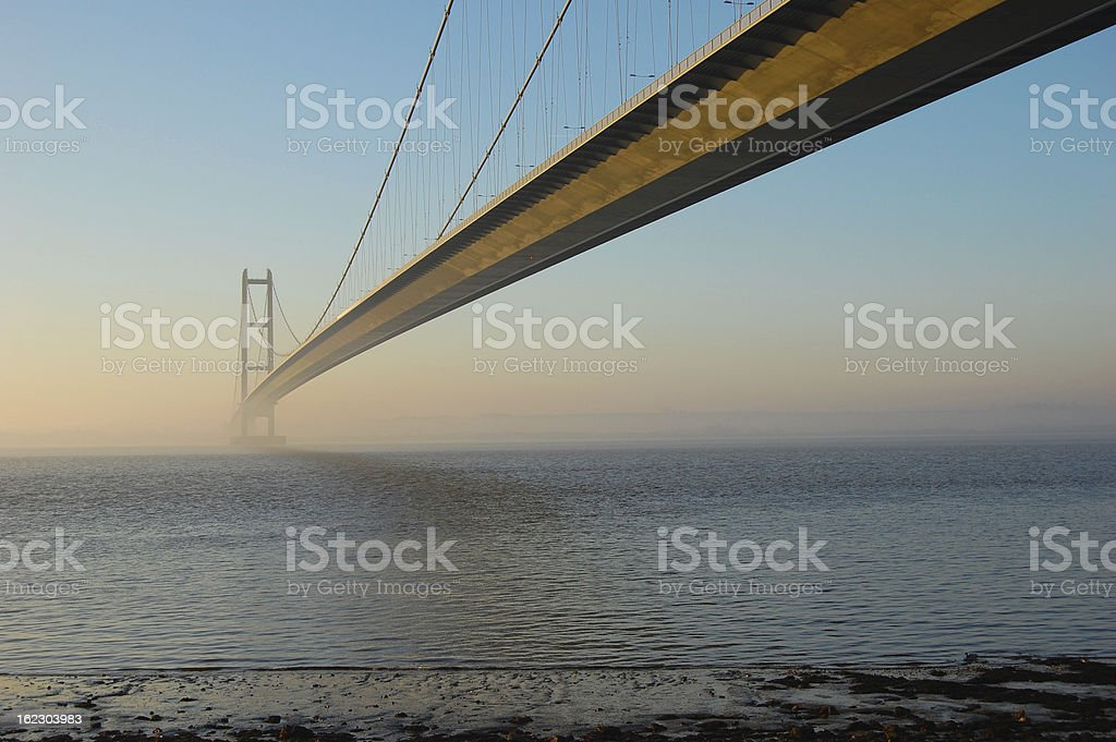 Humber Bridge at Dawn stock photo