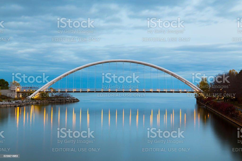 Humber Bridge at Dusk stock photo