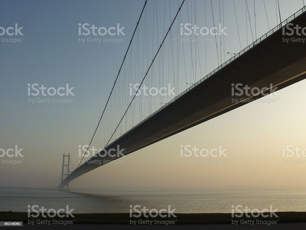 Humber Bridge at Sunset stock photo