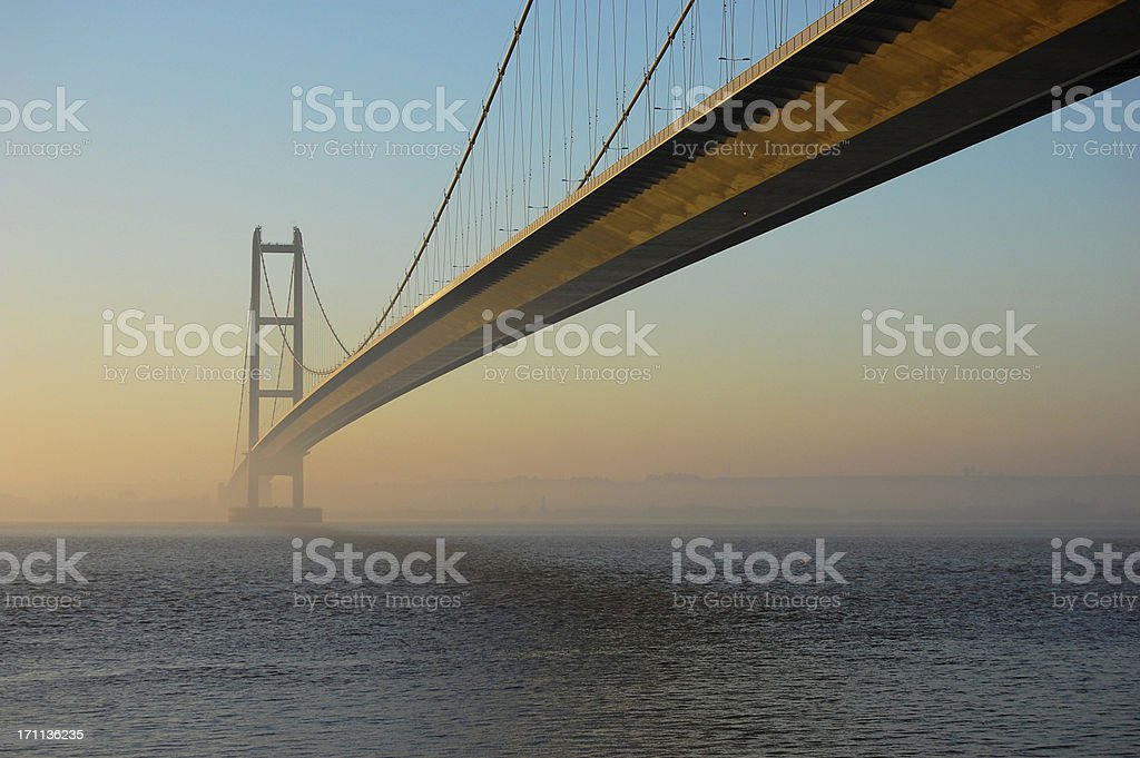 Humber Bridge at Twilight royalty-free stock photo