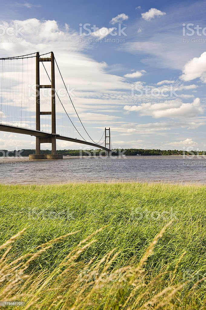 Humber Bridge, England stock photo