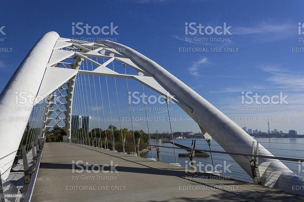 Humber Bridge facing Toronto City stock photo