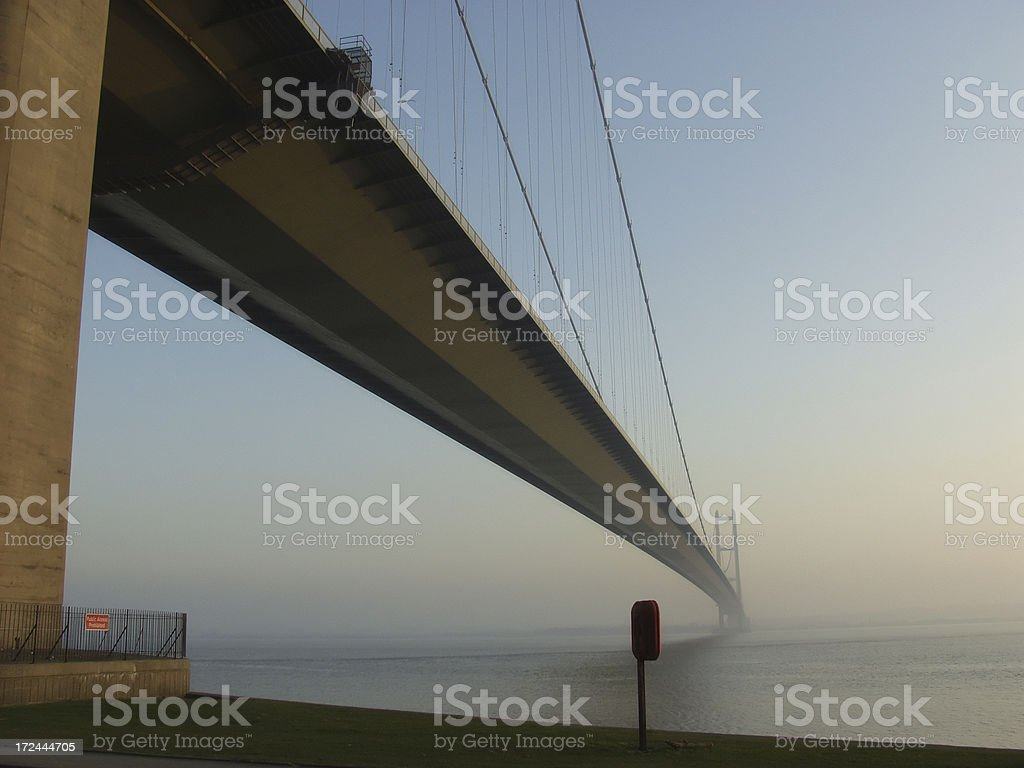 Humber Bridge late Afternoon royalty-free stock photo