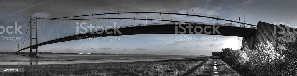 Humber Bridge - Panoramic stock photo