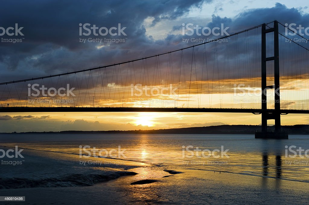 Humber Bridge Sunset stock photo