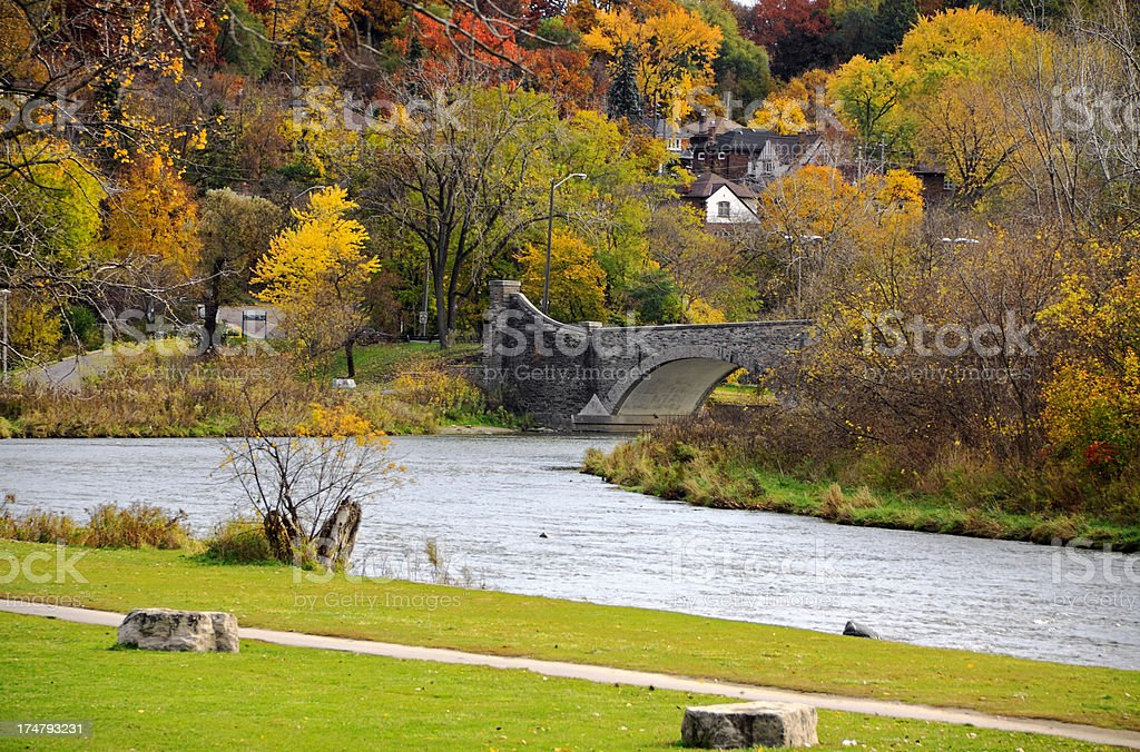 Humber River Autumn stock photo