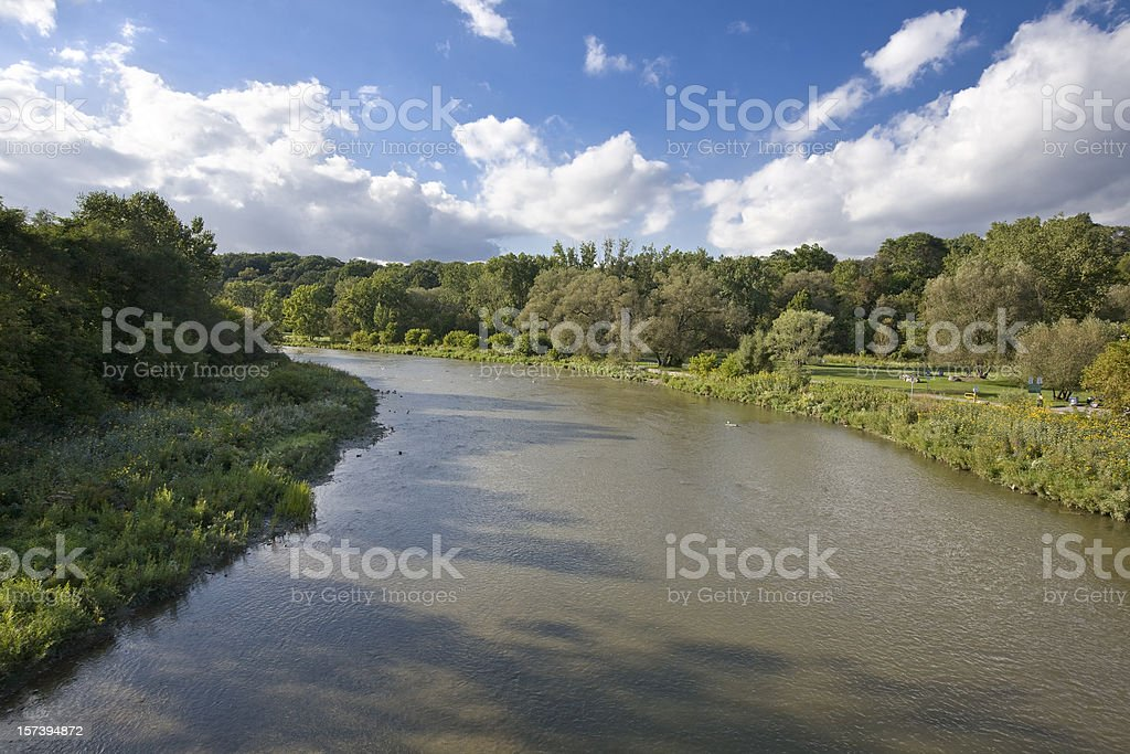 Humber River, Toronto, Canada royalty-free stock photo