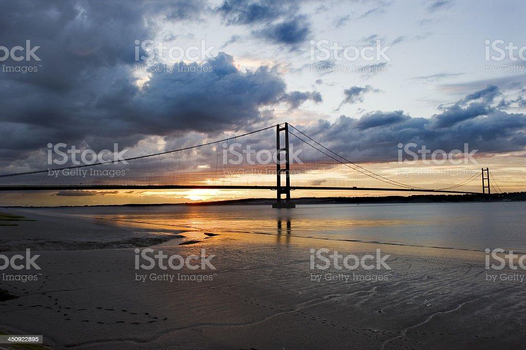 Humber sunset royalty-free stock photo