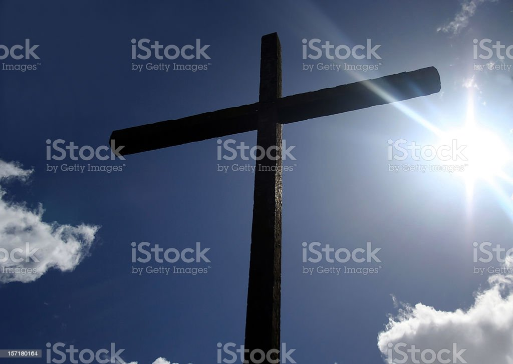 Humble Wooden Cross royalty-free stock photo