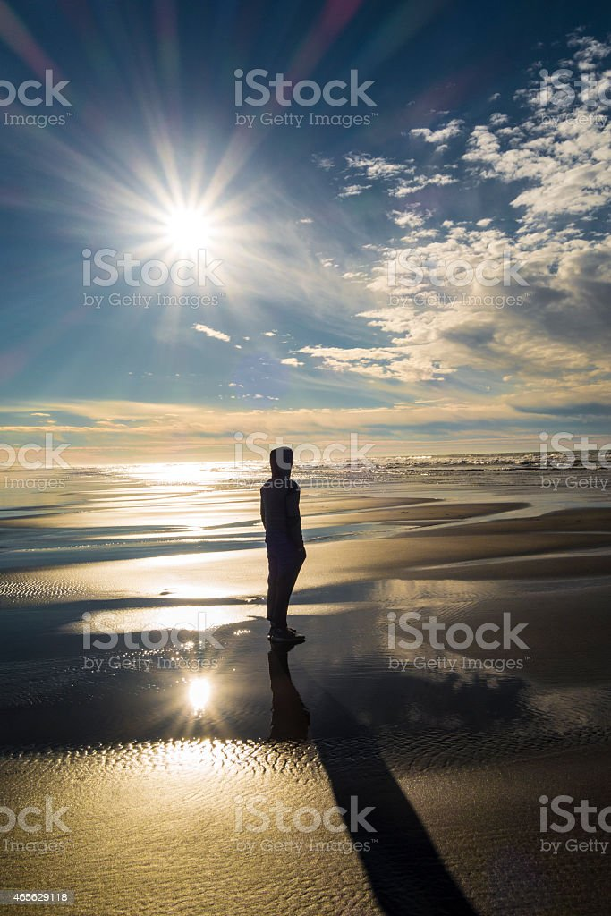 Humboldt County, California beach scene. stock photo