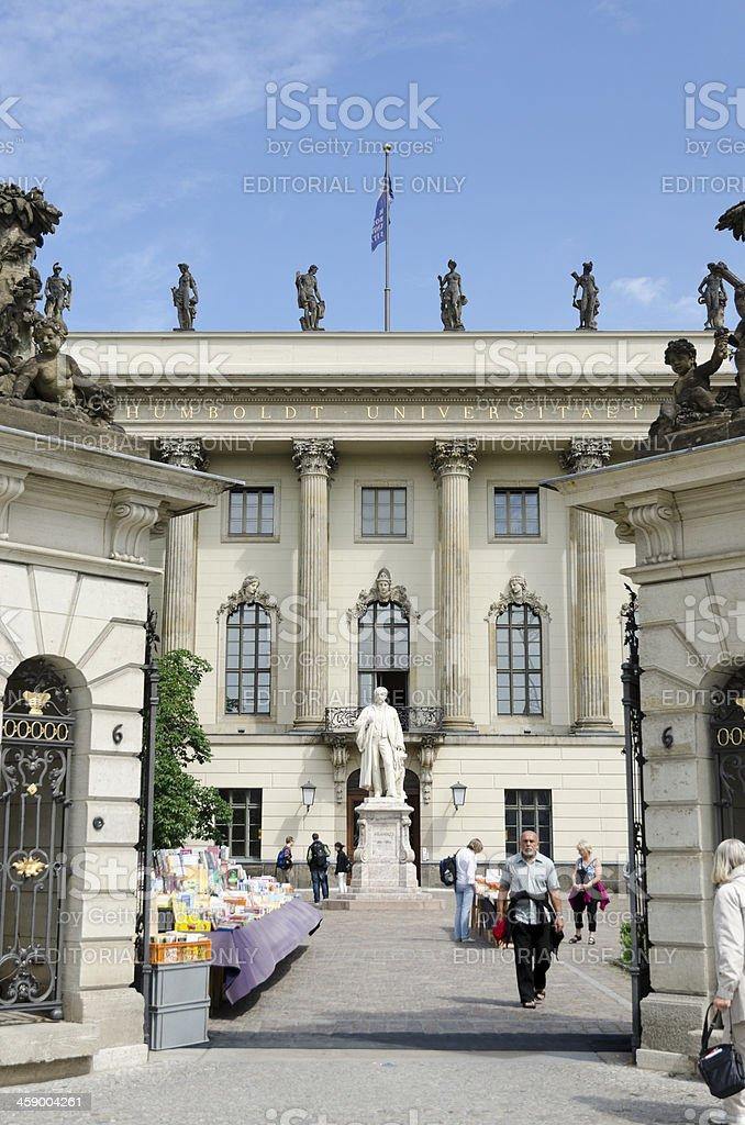 Humboldt University in Berlin royalty-free stock photo