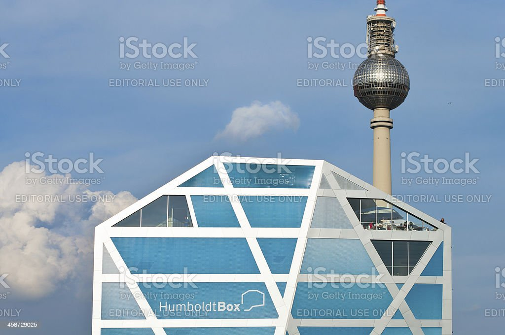 HumboldtBox and Fernsehturm in Berlin, Germany stock photo