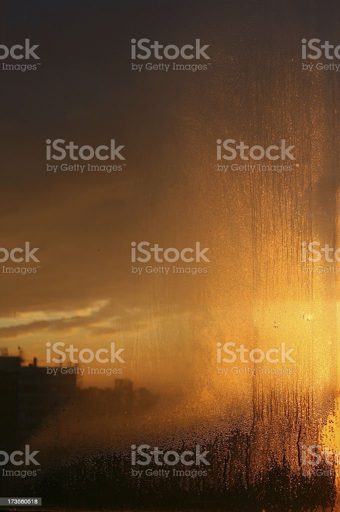 Humid Sunset stock photo
