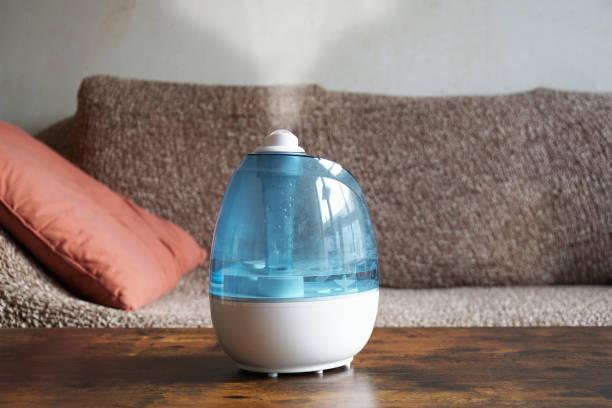 リビングルームの加湿器または空気改善 - 加湿器 ストックフォトと画像