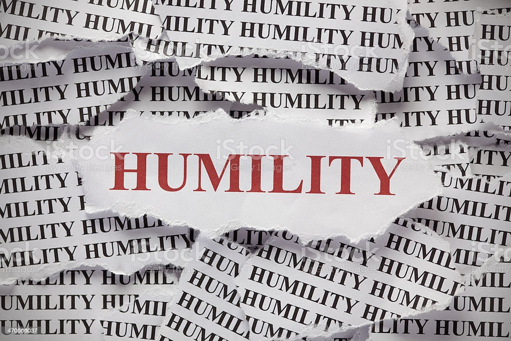 Humility stock photo