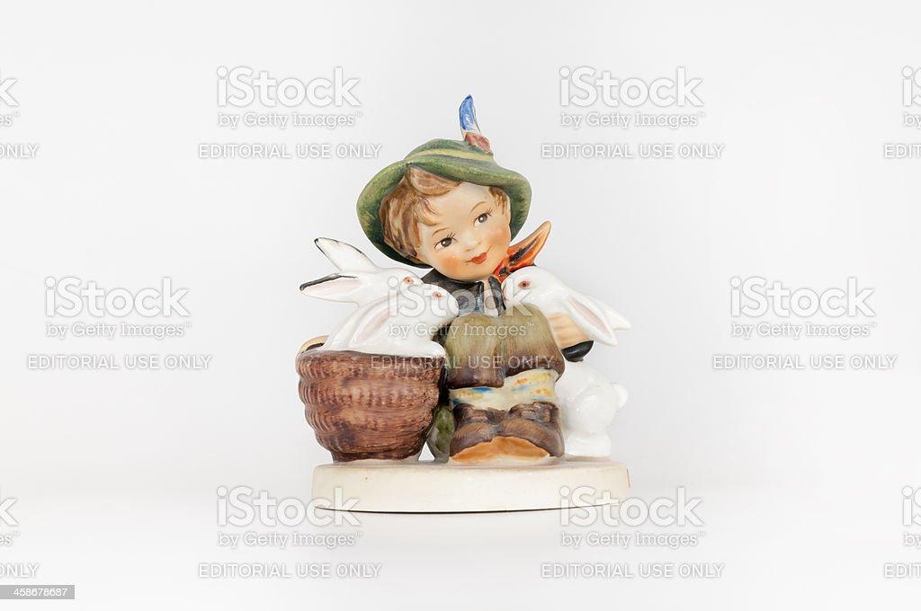 "Hummel Figurine Porcelain Collectible ""Playmates"""
