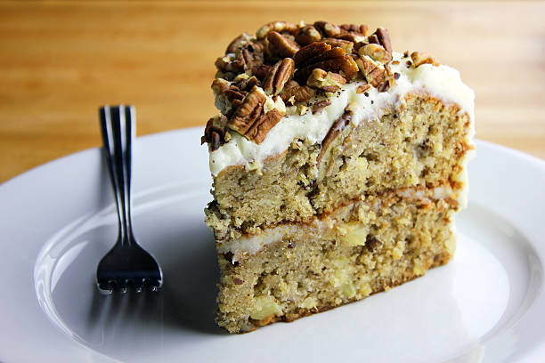 Hummingbird Cake A slice of hummingbird cake allspice stock pictures, royalty-free photos & images