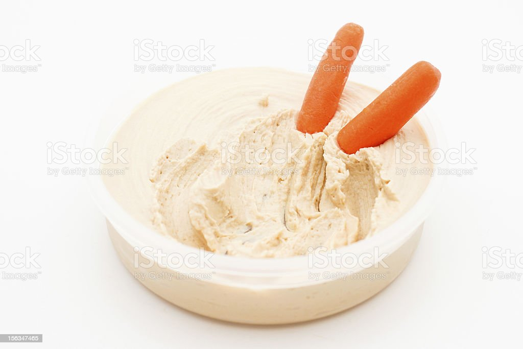 Hummus and Carrots stock photo