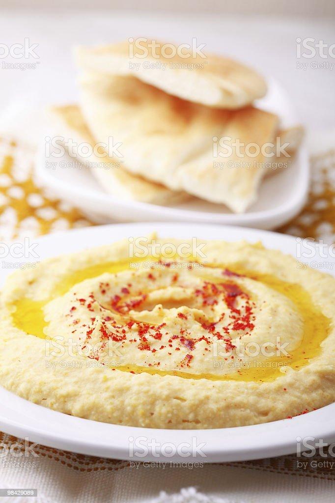 Hummus and Pita royalty-free stock photo