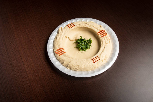 Humus Orta Doğu Restoran gıda stok fotoğrafı