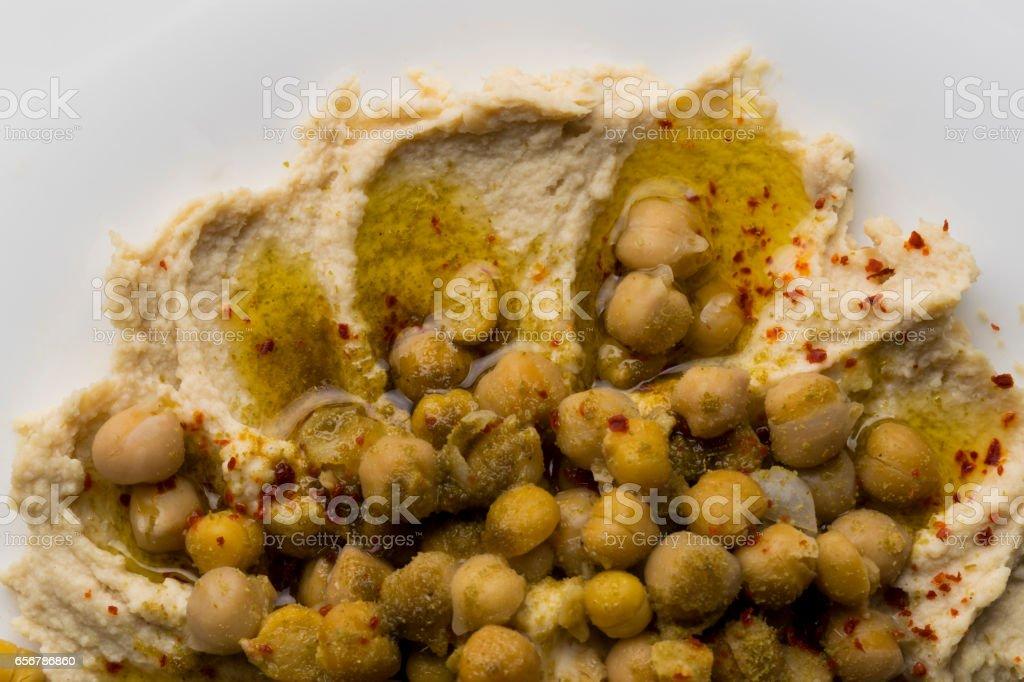 Hummus Oder Hummus Traditionelle Syrische Küche Platte Meist Zum ...
