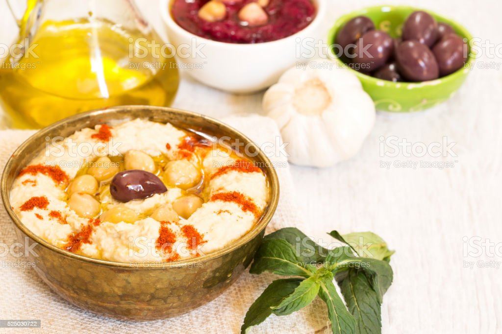 Hummus stock photo
