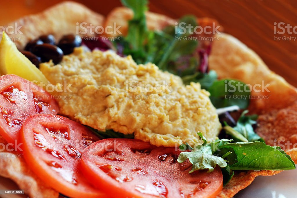 Hummus salad royalty-free stock photo