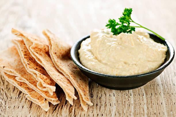Hummus mit pita-Brot – Foto