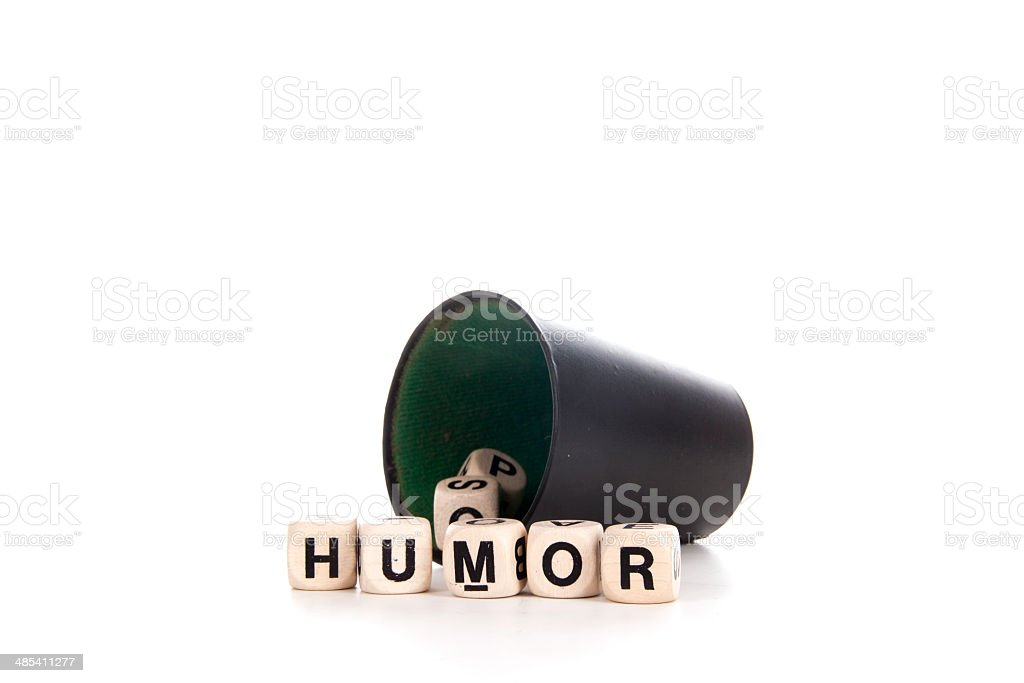 humor in dices royalty-free stock photo