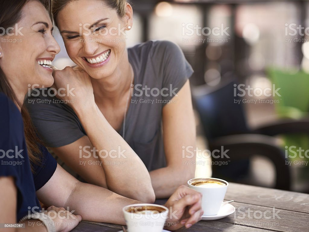 Humorous moments with my best friend stock photo