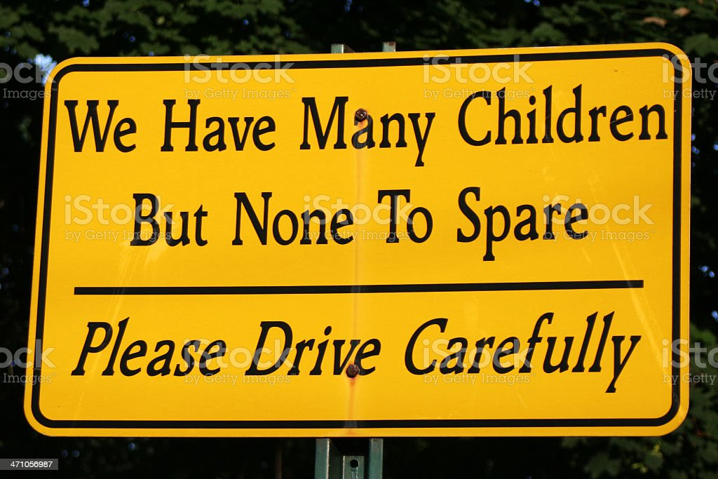 Humorous road sign with serious message royalty-free stock photo