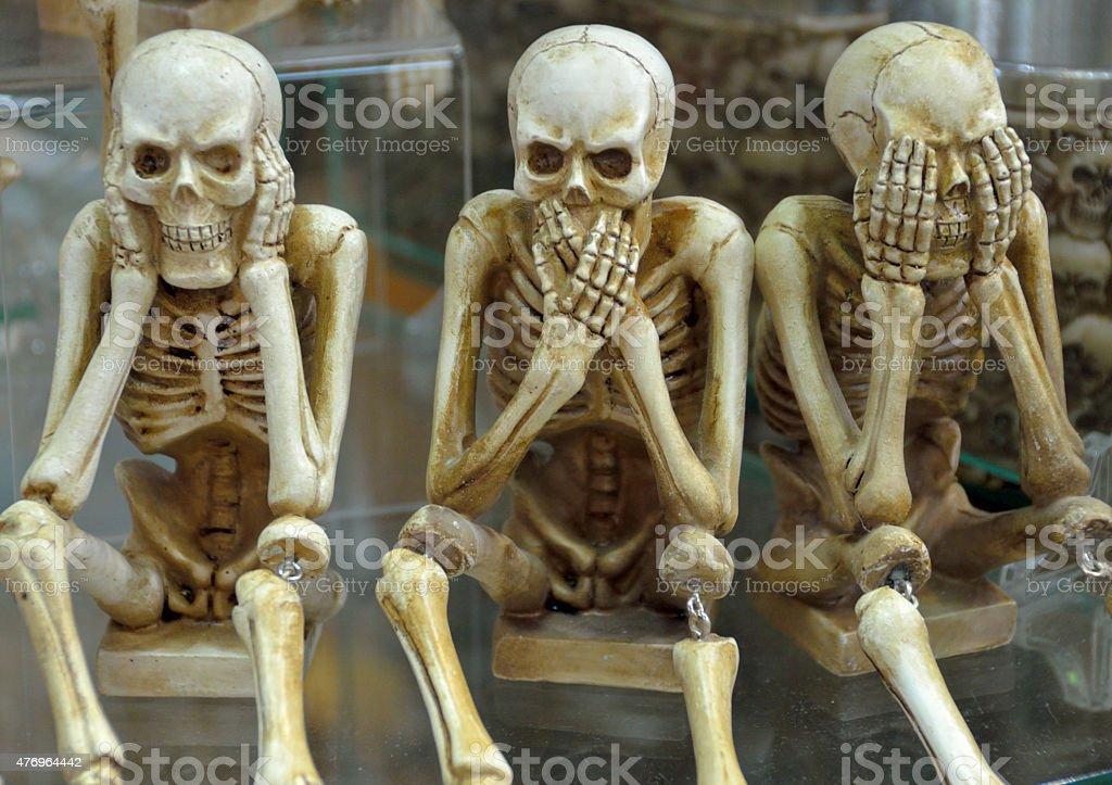 Humorous Skeletons stock photo