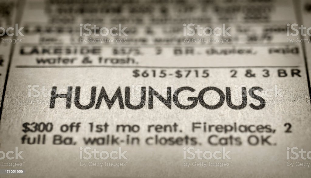 Humungous stock photo
