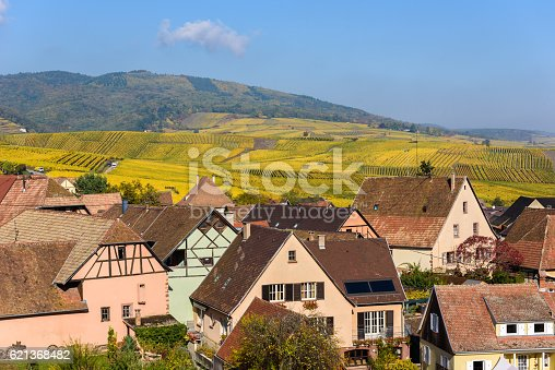 925850210 istock photo Hunawihr - small village in vineyards of alsace - france 621368482