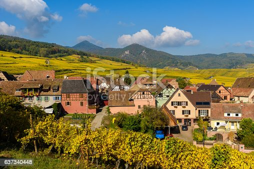 925850210 istock photo Hunawihr - small village in vineyards of alsace - france 637340448