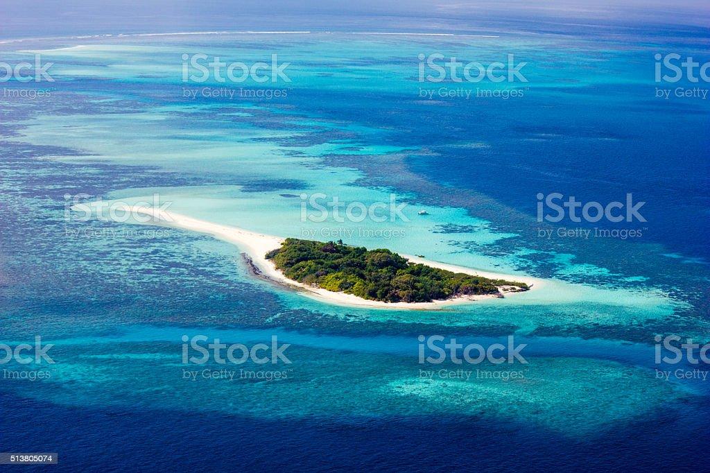 Hundafuri, Haa Atollo Dhaalu, Laccadive mare, Maldive - foto stock