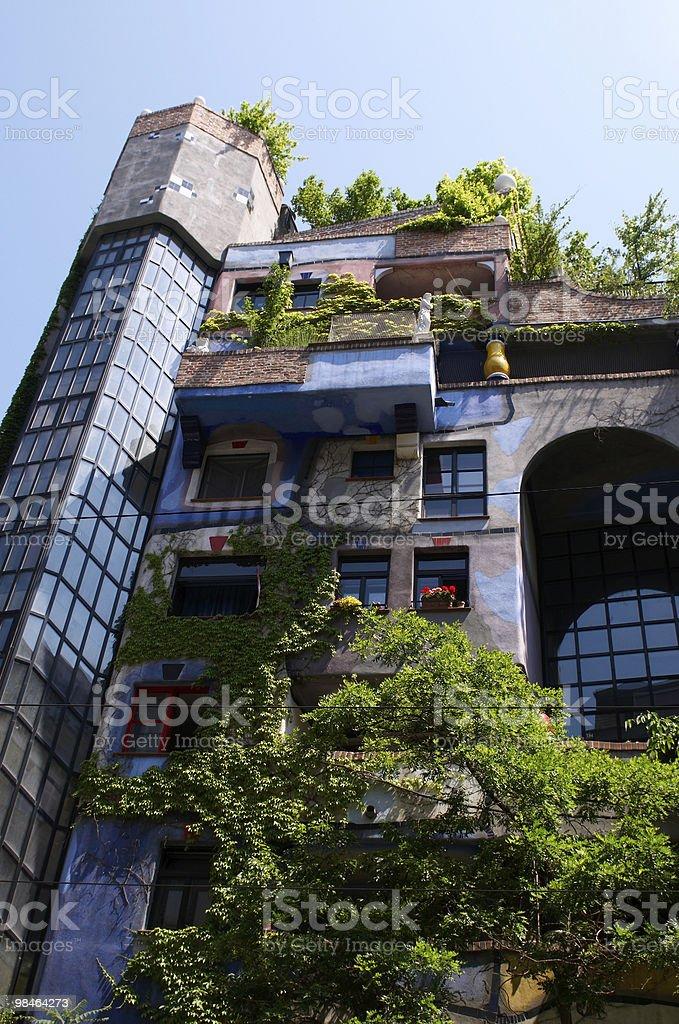 Hundertwasser apartment House in Vienna royalty-free stock photo