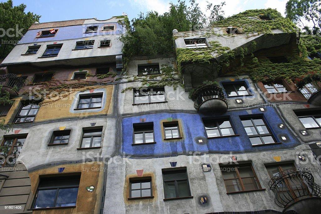 Hundertwasser Haus stock photo